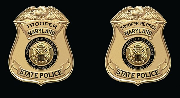 2017 MSP Presidential Inauguration Badge – Maryland Troopers Association