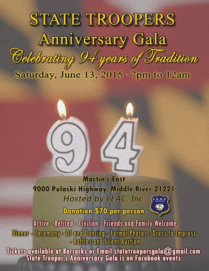 94th Anniversary Trooper Gala – Maryland Troopers Association